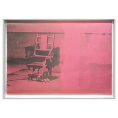 Andy Warhol Electric Chairs Screen Print '#11.75' 1971 'Signed and Numbered'