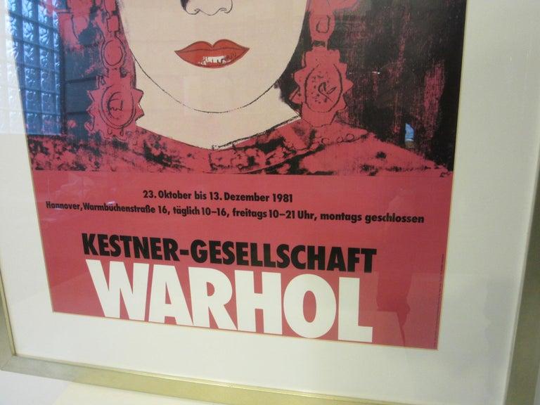 German Andy Warhol Kestner-Gesellschaft 1981 Gallery Poster For Sale