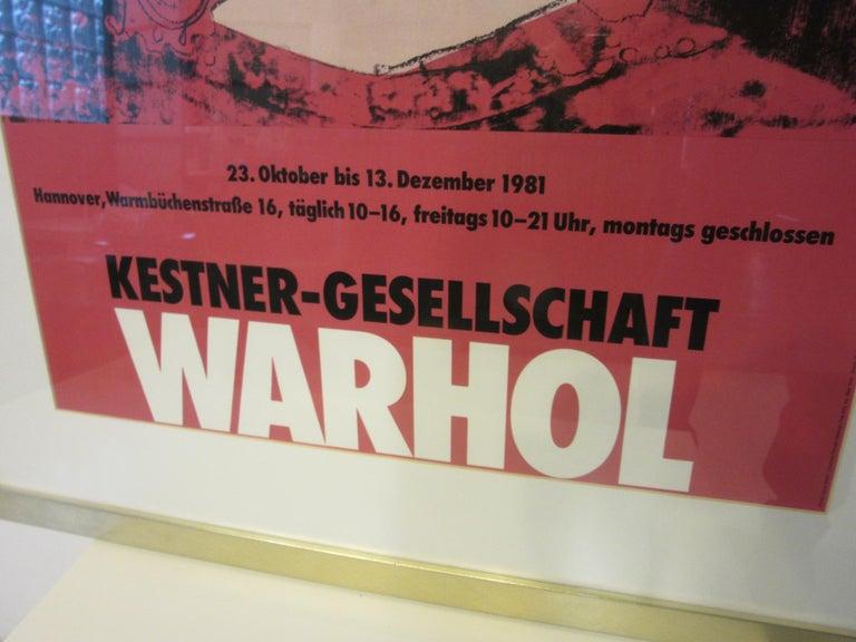 Andy Warhol Kestner-Gesellschaft 1981 Gallery Poster In Good Condition For Sale In Cincinnati, OH