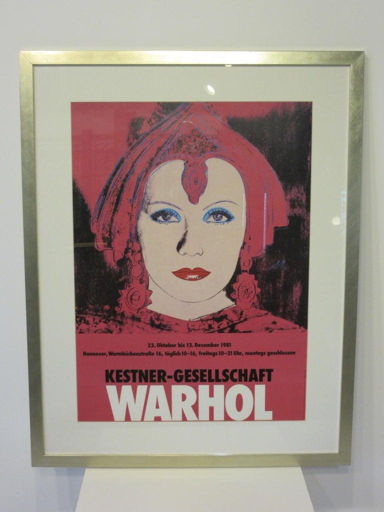 Andy Warhol Kestner-Gesellschaft 1981 Gallery Poster For Sale 1