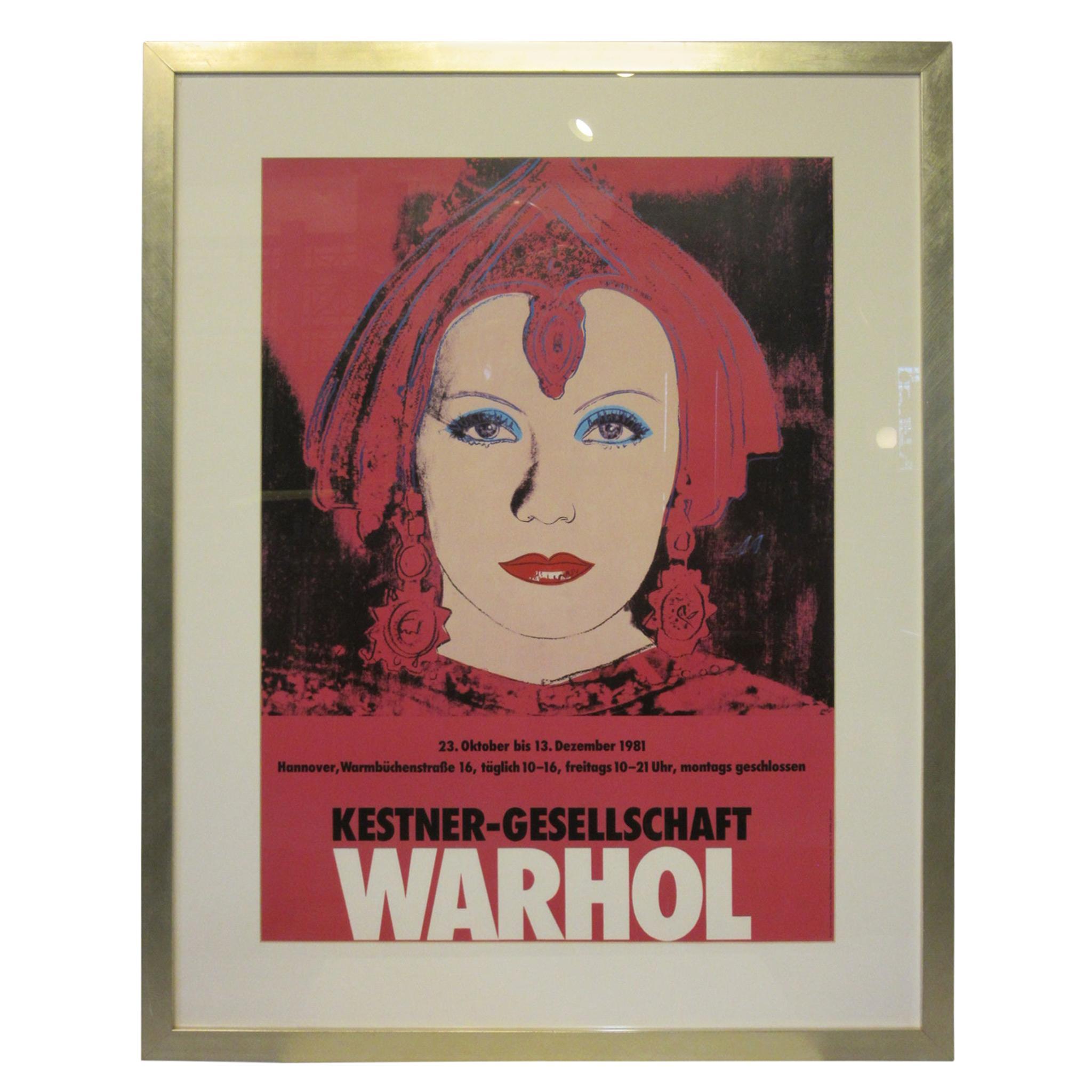 Andy Warhol Kestner-Gesellschaft 1981 Gallery Poster