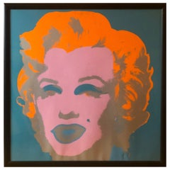 Andy Warhol Marilyn Invitation Card 'Castelli Gallery', 1981 Silkscreen