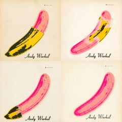 Andy Warhol Banana: Nico & The Velvet Underground Vinyl Record (set of 4 works)