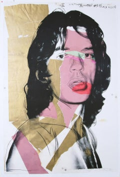 "Andy Warhol - ""Mick Jagger"" - unique color offset lithograph - limited edition"