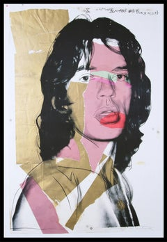 """Andy Warhol - """"Mick Jagger"""" - unique color offset lithograph - ready to hang"""