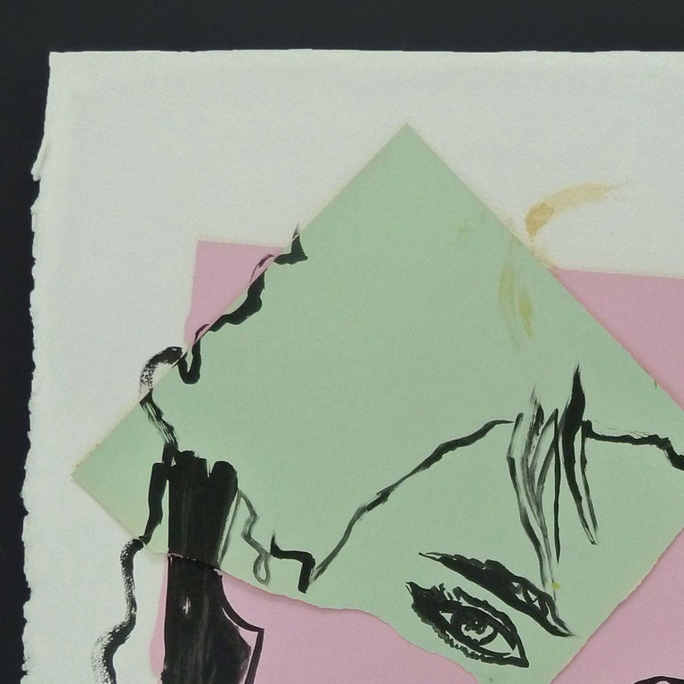 Isabelle Adjani - unique piece by Warhol - Pop Art Mixed Media Art by Andy Warhol