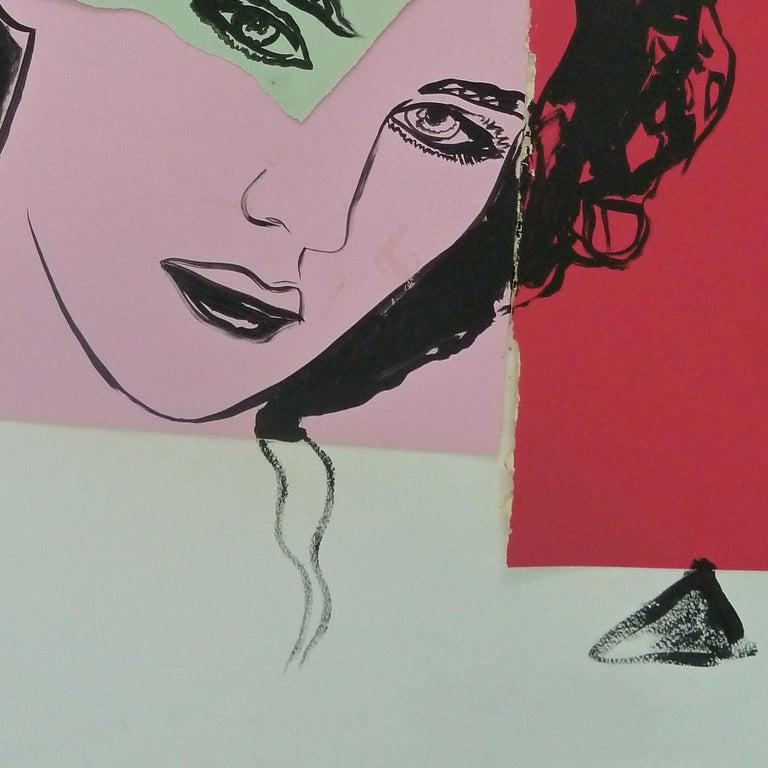 Isabelle Adjani - unique piece by Warhol For Sale 1