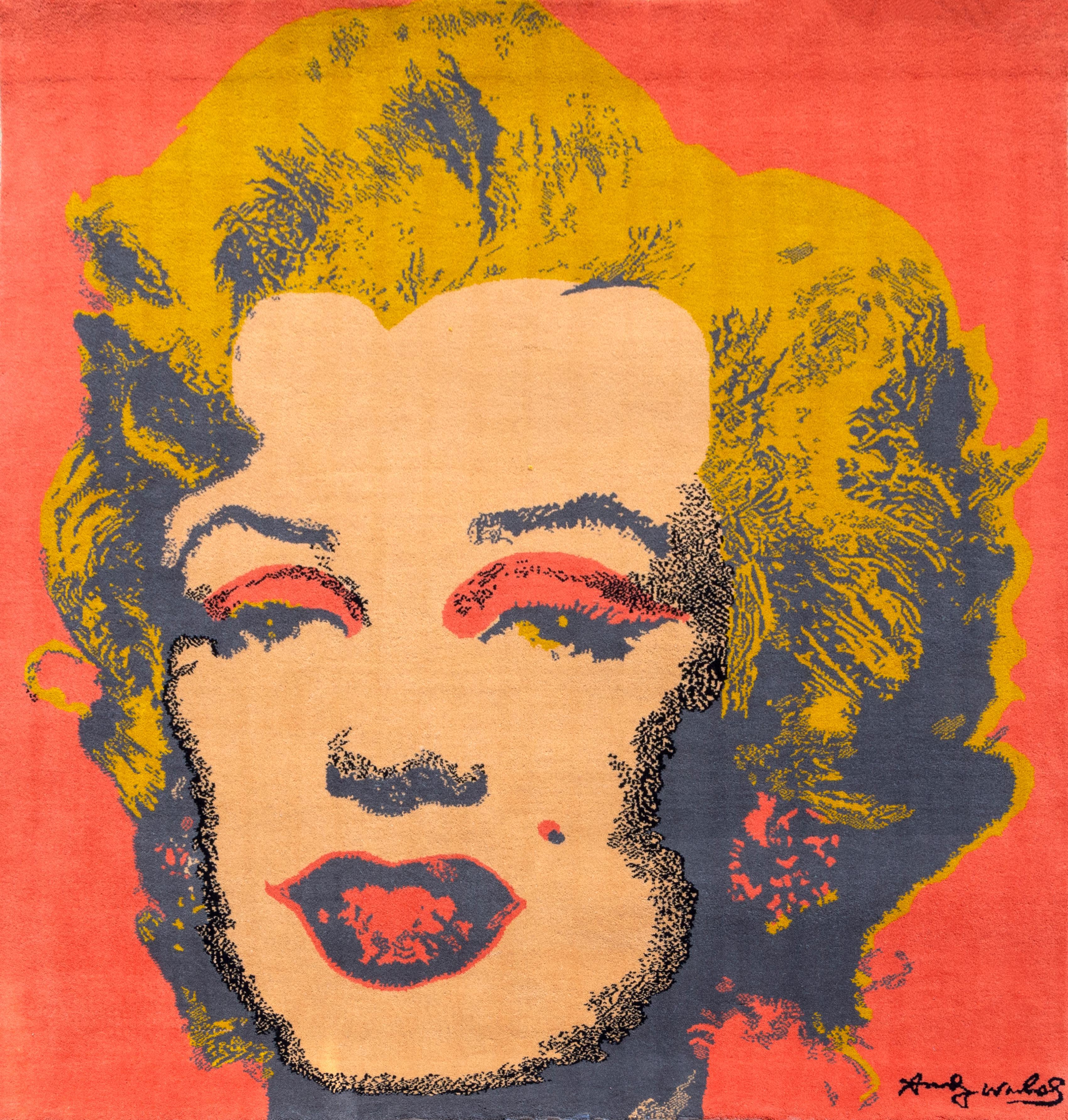 Marilyn, Pop Art Woolen Tapestry after Andy Warhol