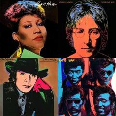 Rare Andy Warhol Record Cover Art set of 4 (Andy Warhol album art)