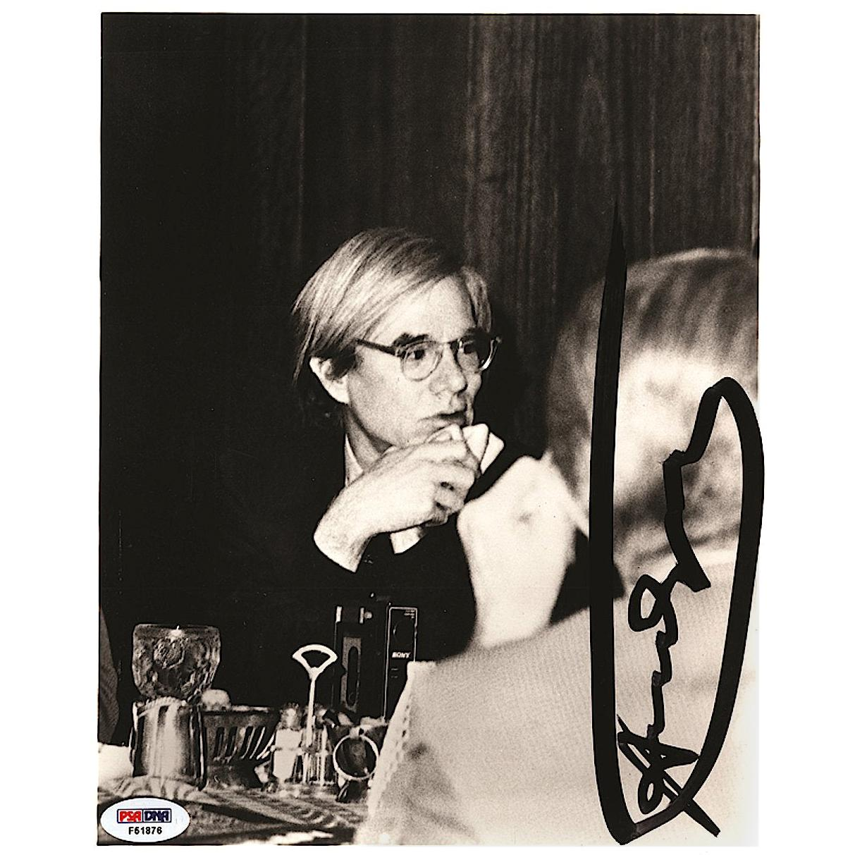 Andy Warhol Original Signed Black and White Photograph, 20th Century