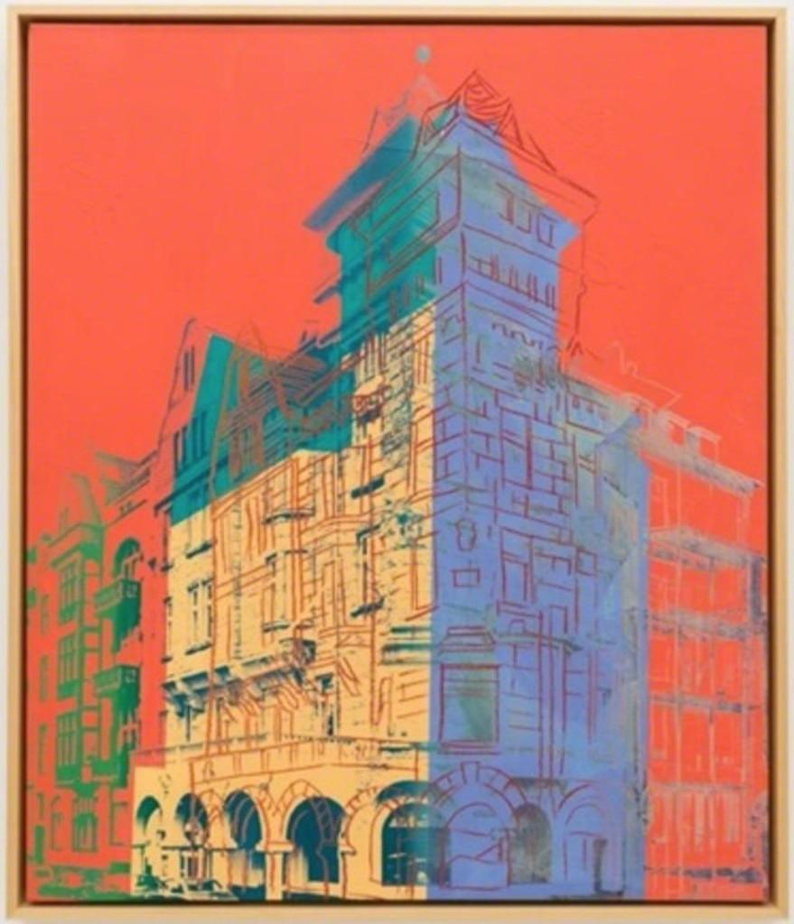 """""""Oberkassel"""" by Andy Warhol, Paint and ink with diamond dust on canvas, 1981"""