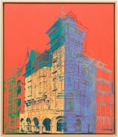 """Oberkassel"" by Andy Warhol, Paint and ink with diamond dust on canvas, 1981"