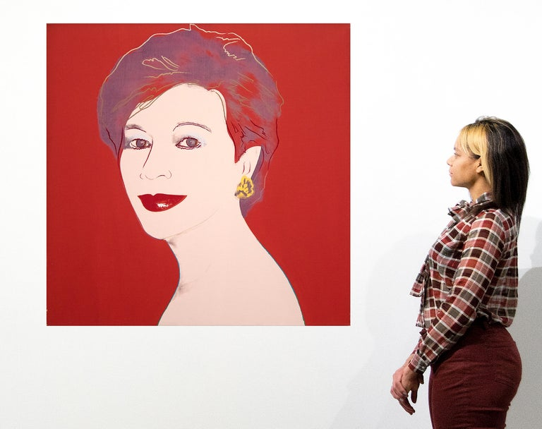 Portrait of Dorothy Blau-Red For Sale 4