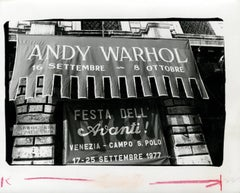 Andy Warhol Exhibition Banner Photograph, Venice, Italy, 1977
