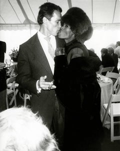Andy Warhol, Photo of Arnold Schwarzenegger & Grace Jones at His Wedding, 1986