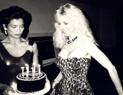 Andy Warhol Photograph, Bianca Jagger with Alana Stewart on Her Birthday, 1985