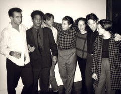 Andy Warhol Photograph, Jean-Michel Basquiat, Julian Schnabel and Others, 1985