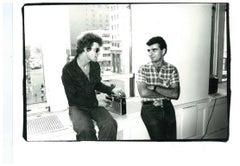 Andy Warhol Photograph, Lou Reed (The Velvet Underground) and Ronnie Cutrone