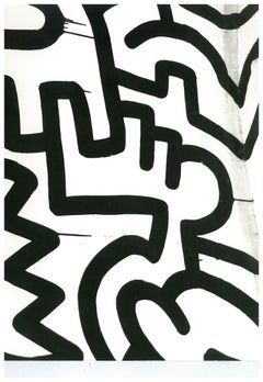 Andy Warhol, Photograph of a Keith Haring Painting Detail (Pop Shop), circa 1983