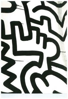 Andy Warhol, Photograph of a Keith Haring Painting Detail (Pop Shop), circa 1983