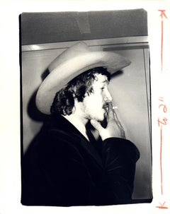 Andy Warhol, Photograph of a Man in Cowboy Hat Smoking, 1970s