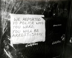 Andy Warhol, Photograph of a Sign (We Reported You to the Police...), 1981