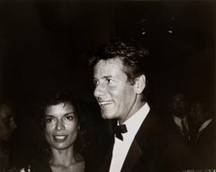 Andy Warhol, Photograph of Bianca Jagger and Calvin Klein, 1982