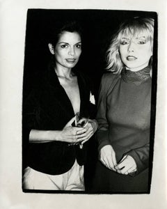 Andy Warhol, Photograph of Bianca Jagger & Debbie Harry (Blondie) circa 1985