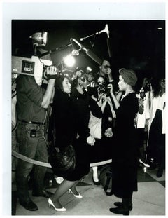 Andy Warhol, Photograph of Bianca Jagger with Press Photographers, circa 1980