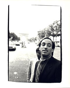 Andy Warhol, Photograph of Bob Colacello and Jon Gould at the Arc du Triomphe