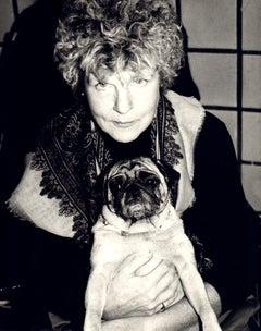 Andy Warhol, Photograph of Brigid Berlin with Pug, 1986