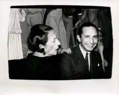 Andy Warhol, Photograph of Diana Vreeland and Fred Hughes
