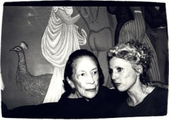 Andy Warhol, Photograph of Diana Vreeland and Tinkerbelle, 1970s