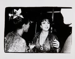 Andy Warhol, Photograph of Elizabeth Taylor and Unidentified Couple, 1981
