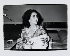 Andy Warhol, Photograph of Elizabeth Taylor at Halston's, circa 1979-1980