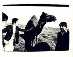 Andy Warhol, Photograph of Fred Hughes and Jed Johnson with Camel in Kuwait 1977