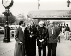 Andy Warhol, Photograph of Fred Hughes, Yoyo and Bruno Bischofberger circa 1986