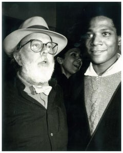 Andy Warhol, Photograph of Henry Geldzahler and Jean-Michel Basquiat circa 1984