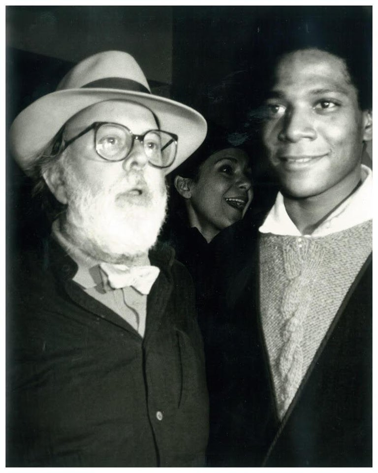 Andy Warhol, <i>Photograph of Henry Geldzahler and Jean-Michel Basquiat</i>, ca. 1984, offered by Hedges Projects