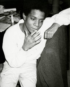 Andy Warhol, Photograph of Jean-Michel Basquiat circa 1984