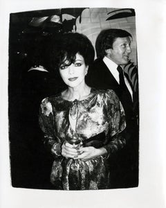 Andy Warhol, Photograph of Joan Collins at The Factory, circa 1986