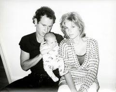 Andy Warhol, Photograph of John McEnroe, Tatum O'Neal and baby Kevin, 1986
