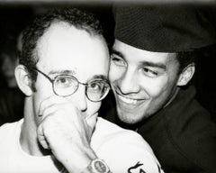Andy Warhol, Photograph of Keith Haring and Juan Rivera, 1986