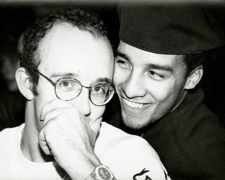 Andy Warhol Black and White Photograph - Photograph of Keith Haring and Juan Rivera