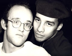 Andy Warhol, Photograph of Keith Haring and Juan Rivera, 1986