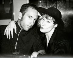 Andy Warhol, Photograph of Kenny Scharf and Ann Magnuson, circa 1984