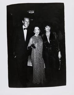 Andy Warhol, Photograph of Liza Minnelli, Halston and Martha Graham, 1981