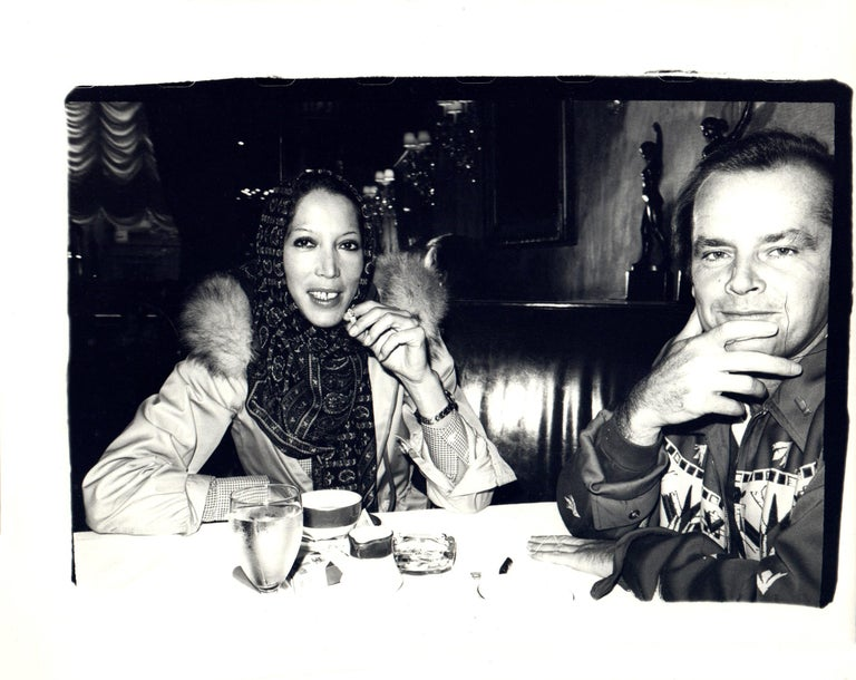 Andy Warhol, Photograph of Marina Schiano and Jack Nicholson circa 1978 - Black Black and White Photograph by Andy Warhol