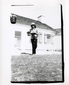Andy Warhol, Photograph of Mick Jagger (The Rolling Stones) in Montauk, 1975