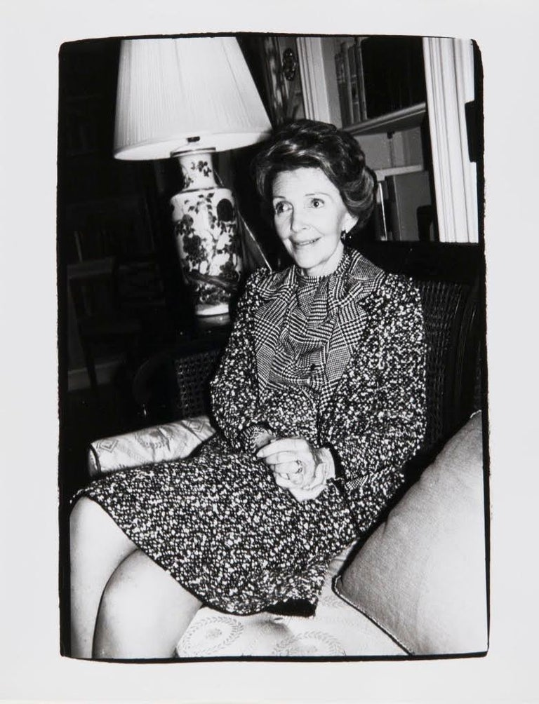 Andy Warhol, Photograph of Nancy Reagan, 1981 - Gray Black and White Photograph by Andy Warhol